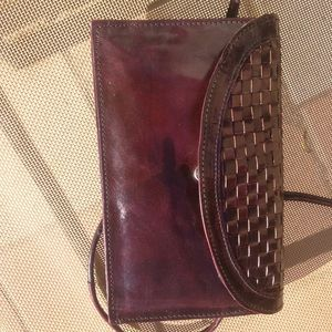 Handbags - Real Leather Burgundy Purse 2 Wallets